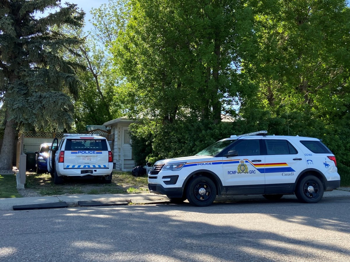 RCMP are investigating two suspicious deaths at a home in Coaldale, Alta.