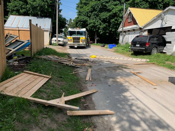 Police said the single-vehicle crash took place on Main Street in Shelburne at around 10 a.m..