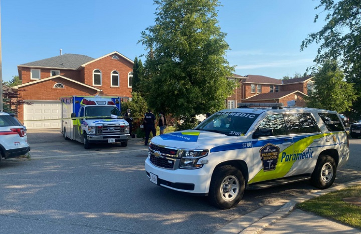 Emergency crews were called to the Emmanuel Drive home at around 6 p.m. on Sunday.