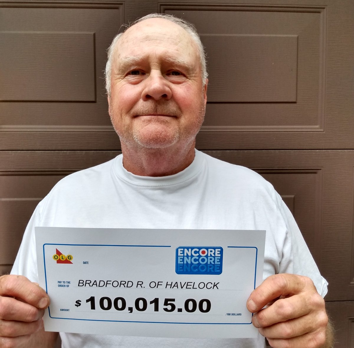 A Havelock man won $100,015 on his 70th birthday in March.