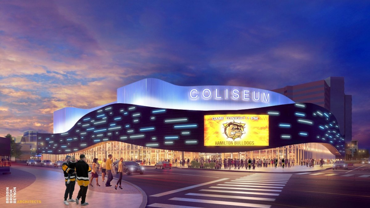 A rendering of a newly renovated First Ontario Centre. A 49-year agreement between the city of Hamilton and the Hamilton Urban Precinct Entertainment Group L.P. was approved by the city on June 9, 2021.