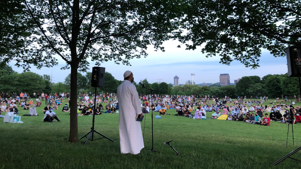 Hundreds of Hamiltonians showed their support for four victims of a recent vehicle attack in London, Ont. The vigil and sanctioned prayer service was at Bayfront Park on Wednesday June 10, 2021.