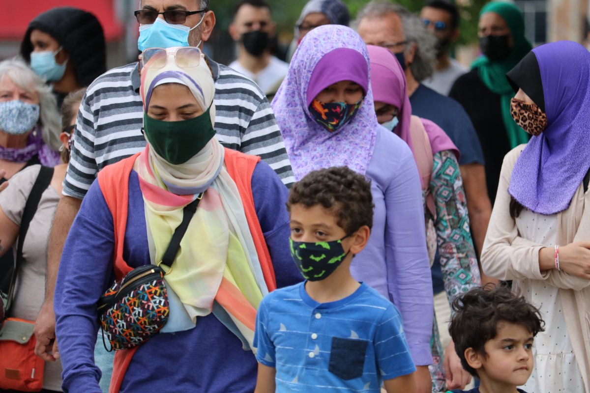 Around 80 Londoners walked around Victoria Park in solidarity against Islamophobia as part of the Hijabs for Harmony event Friday, June 18, 2021.