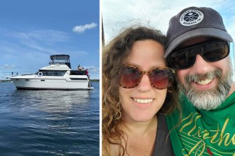 Jennifer Goulden and Chris Arnold are leaving their Kitchener house to live on a boat.