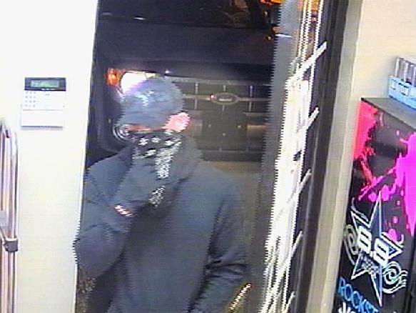 A photograph of Sunday night's robbery suspect.