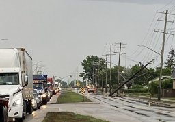 Continue reading: Downed hydro pole slows traffic to crawl on Route 90