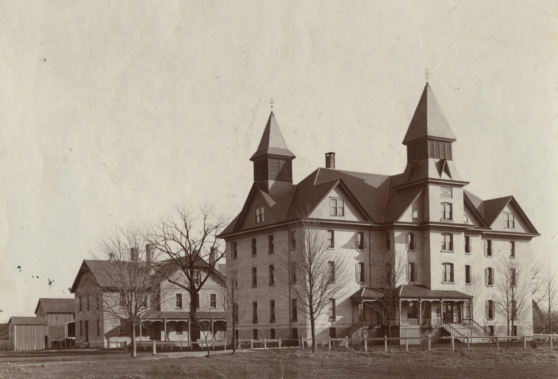Undated photo of Mount Elgin residential school.