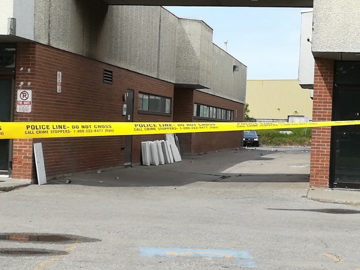 The scene of the shooting in the area of Markham Road and Finch Avenue.