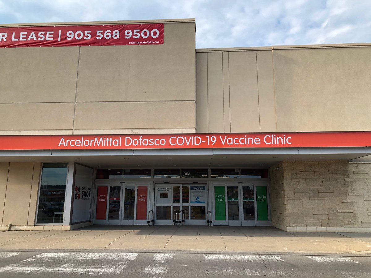 ArcelorMittal Dofasco and Hamilton public health are hosting a COVID-19 vaccine clinic at the Centre on Barton that's scheduled to open on June 21.