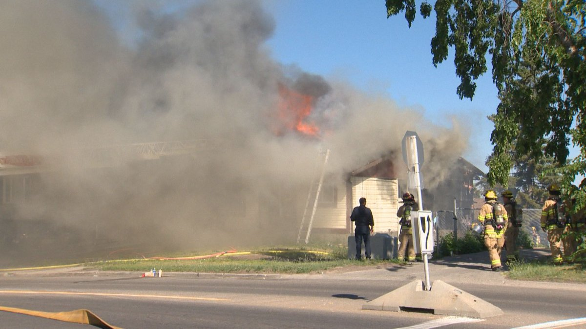Calgary crews responded to a house fire in the 3000 block of Radcliffe Drive S.E. on Wednesday, June 30, 2021.