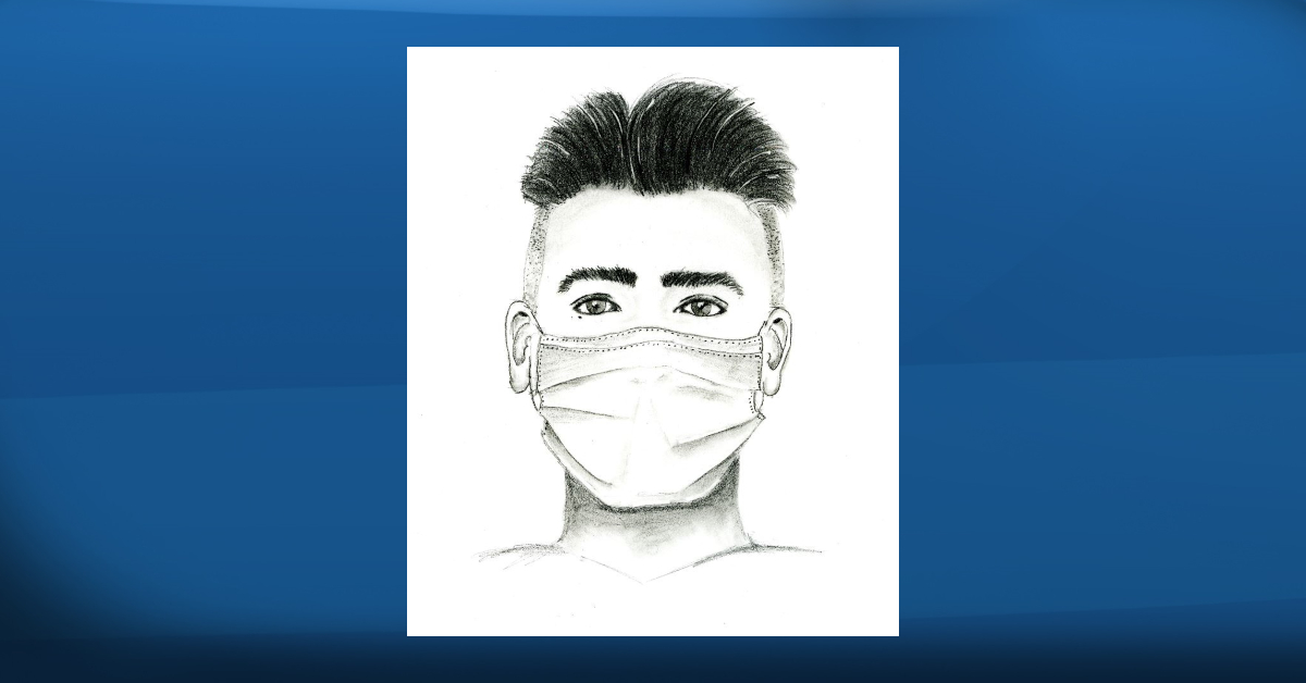 A police sketch of a suspect wanted after a girl was sexually assaulted in Silverberry Park near 30 Street and 31 Avenue in southeast Edmonton in early June 2021.