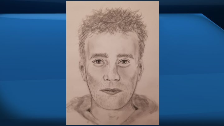 """A week after multiple carjackings and attempted carjackings unfolded in a single morning in St. Albert, the RCMP have released a composite sketch of a man they allege used a gun or a """"replica firearm"""" to get people to surrender their vehicle."""
