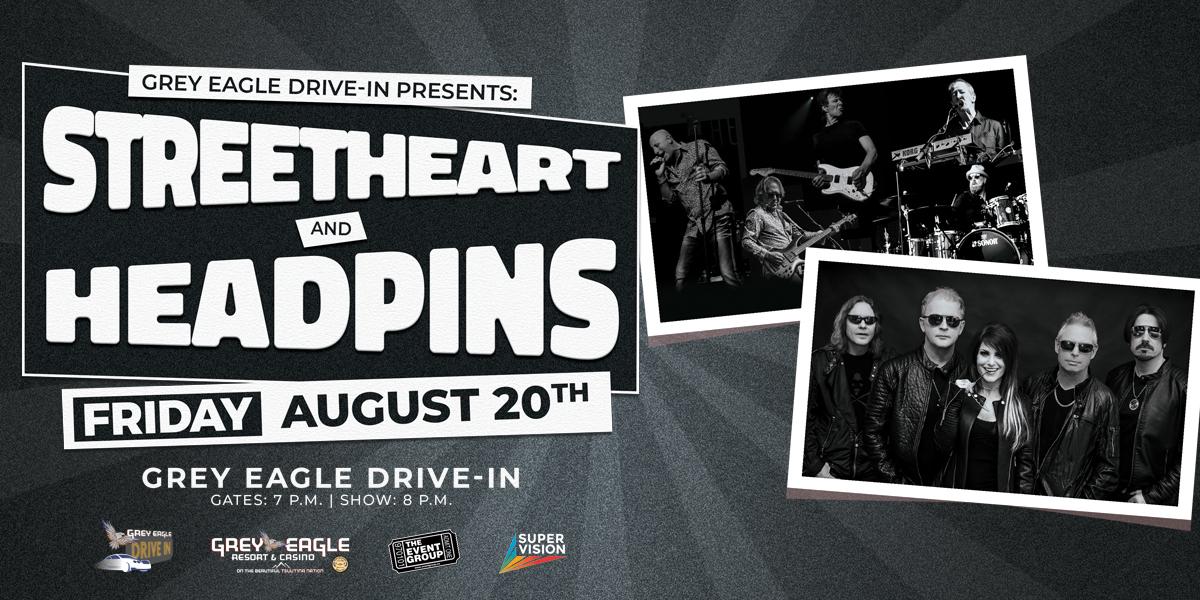 Grey Eagle Drive In: Streetheart & Headpins - image