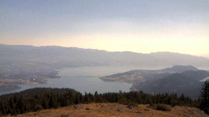 A view of Okanagan Lake, Kelowna and West Kelowna on Wednesday, June 30, 2021.