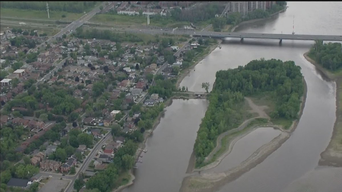 A view of the Rivière des Prairies on Friday, June 18, 2021.