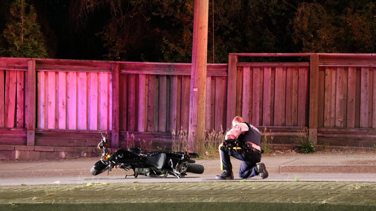RCMP investigate a fatal hit-and-run collision in Burnaby.