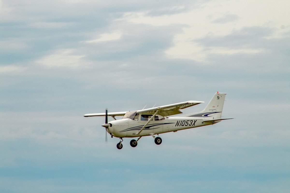 Stock image of a Cessna plane.