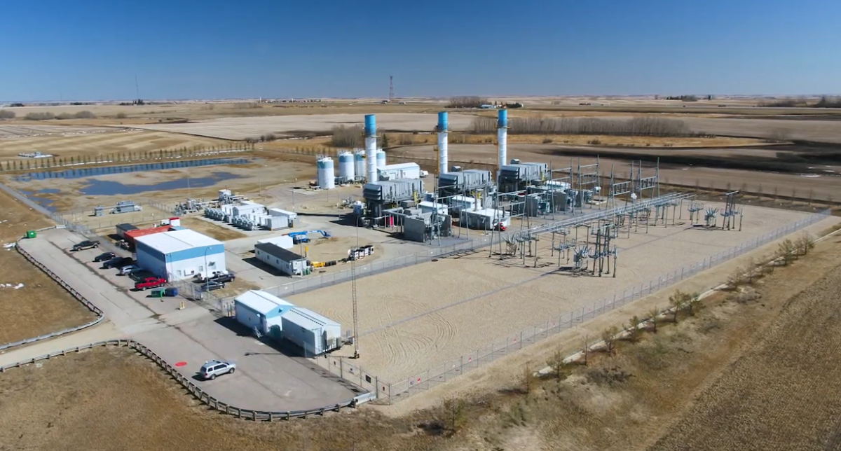 Enmax's Crossfield Energy Centre with a hybrid electric gas turbine in an undated photo.