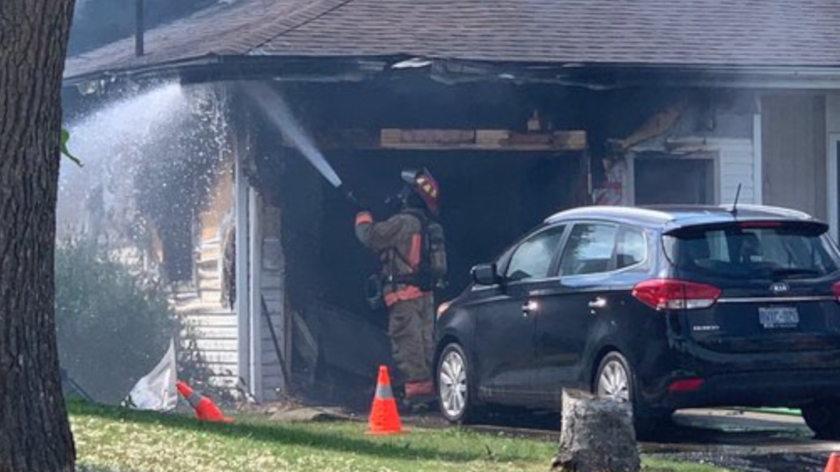 Hamilton firefighters tackled a garage fire on the city's east Mountain on June 21, 2021.