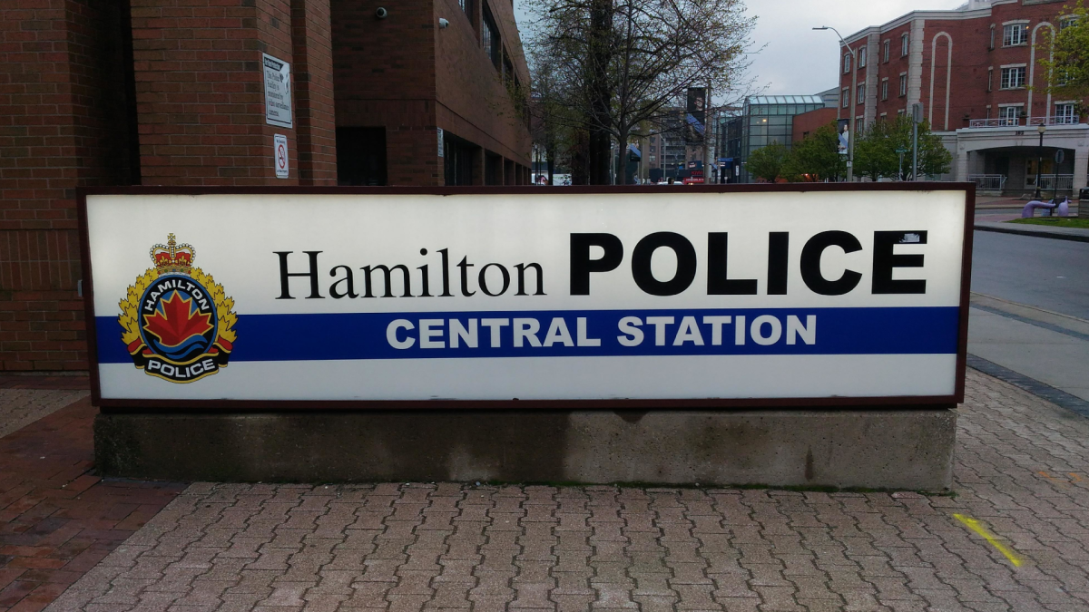 Hamilton police central station on King William Street in 2019.