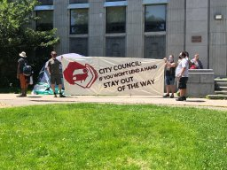Continue reading: Demonstrators in Halifax demand housing plan before city tears down crisis shelters