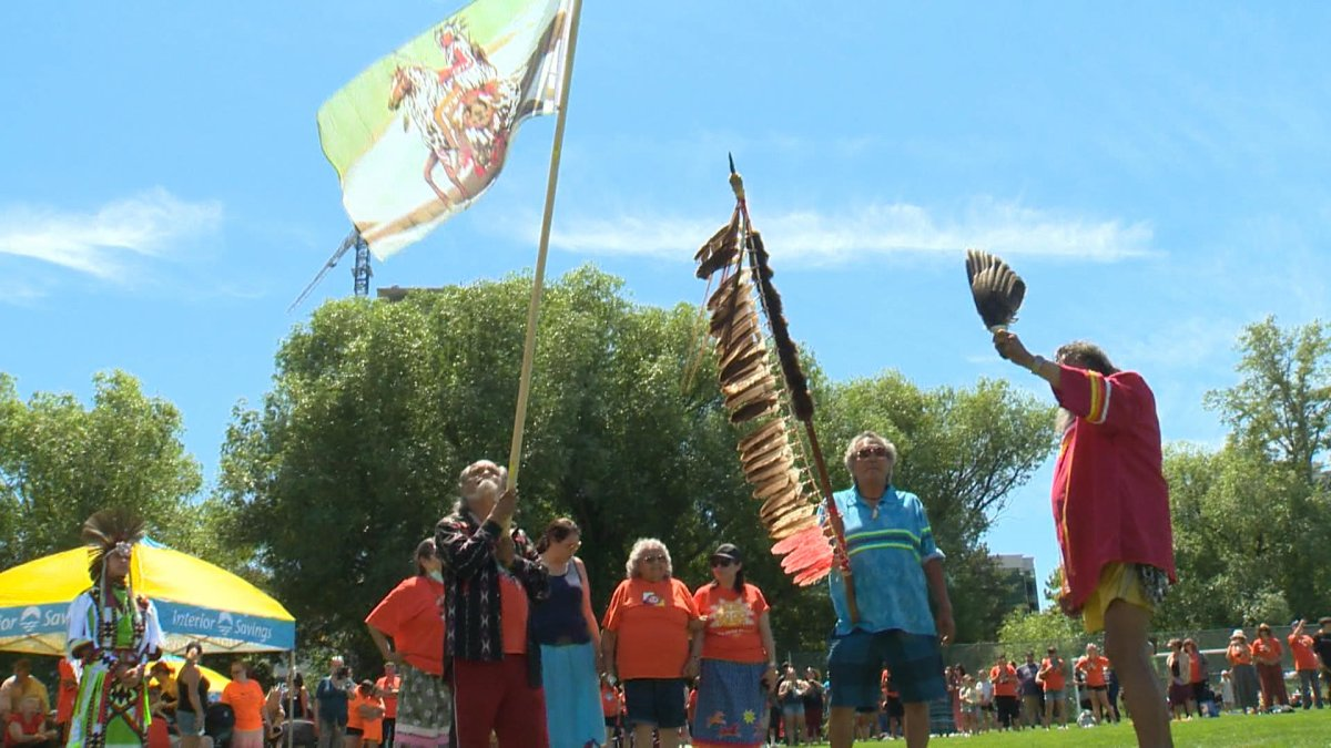 The celebration of National Indigenous Peoples Day in Kelowna.
