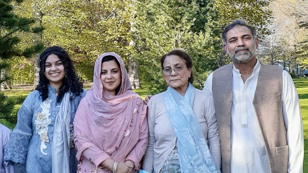 (From right to left) Salman Afzaal, his 74-year-old mother, his 44-year-old wife Madiha Salman, their 15-year-old daughter Yumna Afzaal.