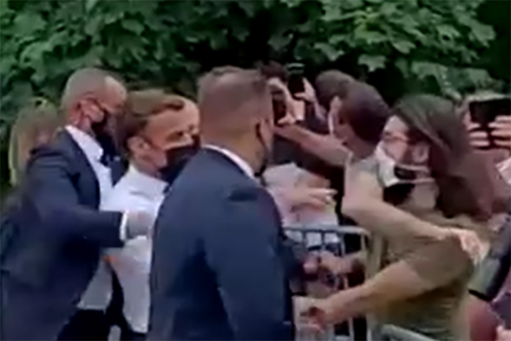 WATCH: French President Emmanuel Macron Slapped in the Face During V