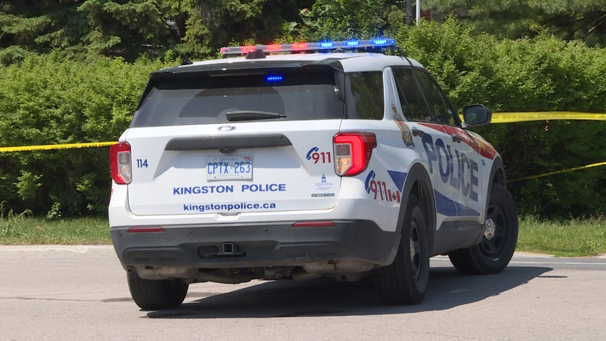 Kingston Police looking for a male believed to be in possession of a firearm.