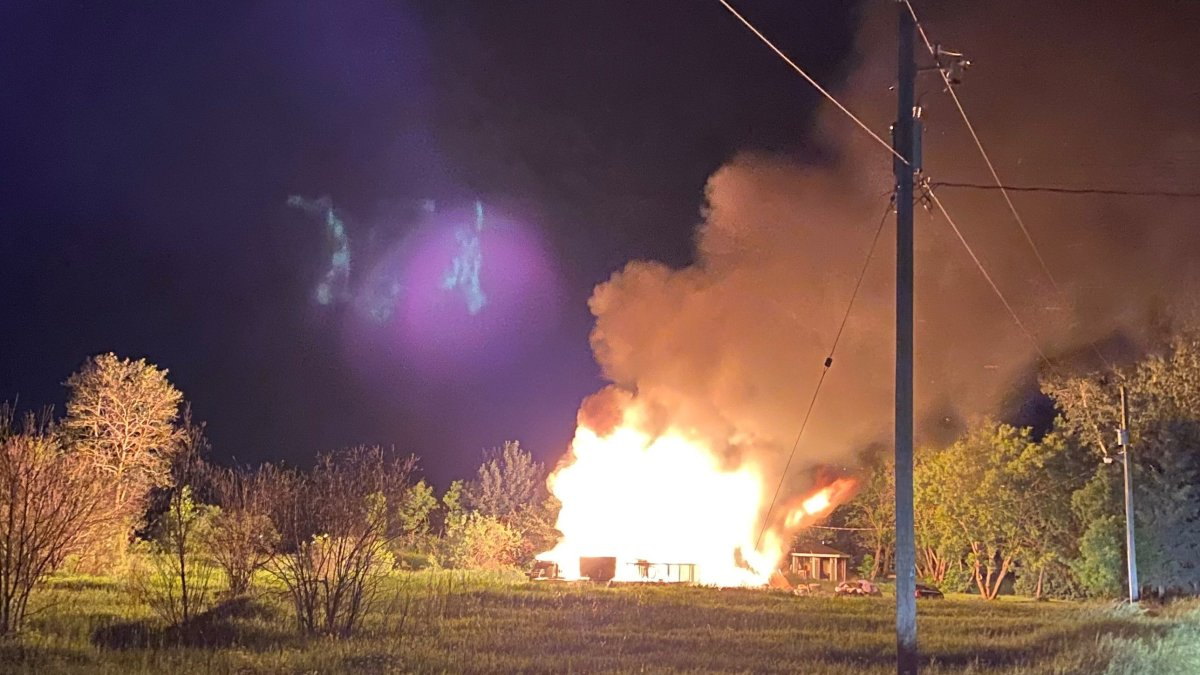 RCMP have charged a man with arson in connection with this house fire on Sagkeeng First Nation.