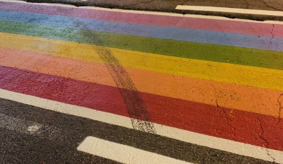 Grenville OPP say they've laid charges against a 36-year-old woman after finding tire marks strewn across the Pride crosswalk in Kemptville, Ont.