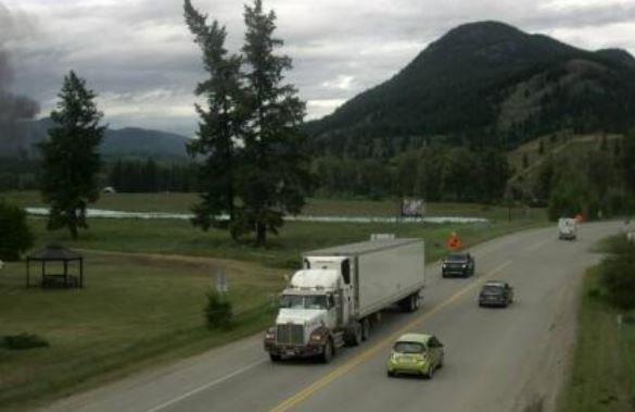 Fuel truck fire closes Highway 24 in both directions near Little Fort