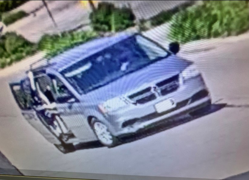 Guelph police said the minivan's licence plates were covered by white tape.