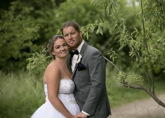 Emily married her high school sweetheart, Cameron David in a small backyard wedding with only immediate family in June 2021.