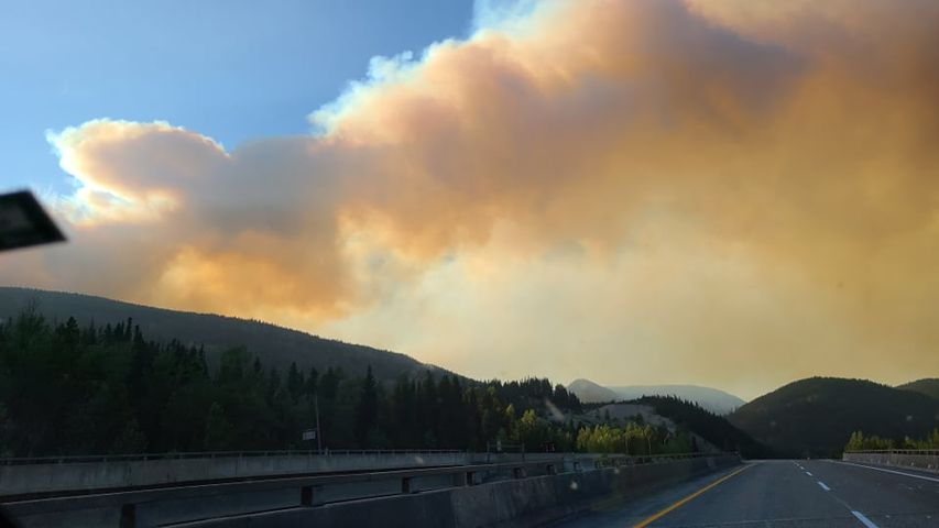 The Brenda Creek wildfire burning south of the Okanagan Connector.