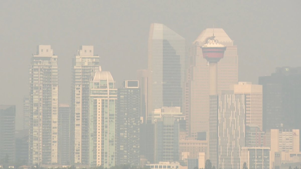 Another heat warning has been issued for Calgary as smoke from wildfires continues to settle over the city.