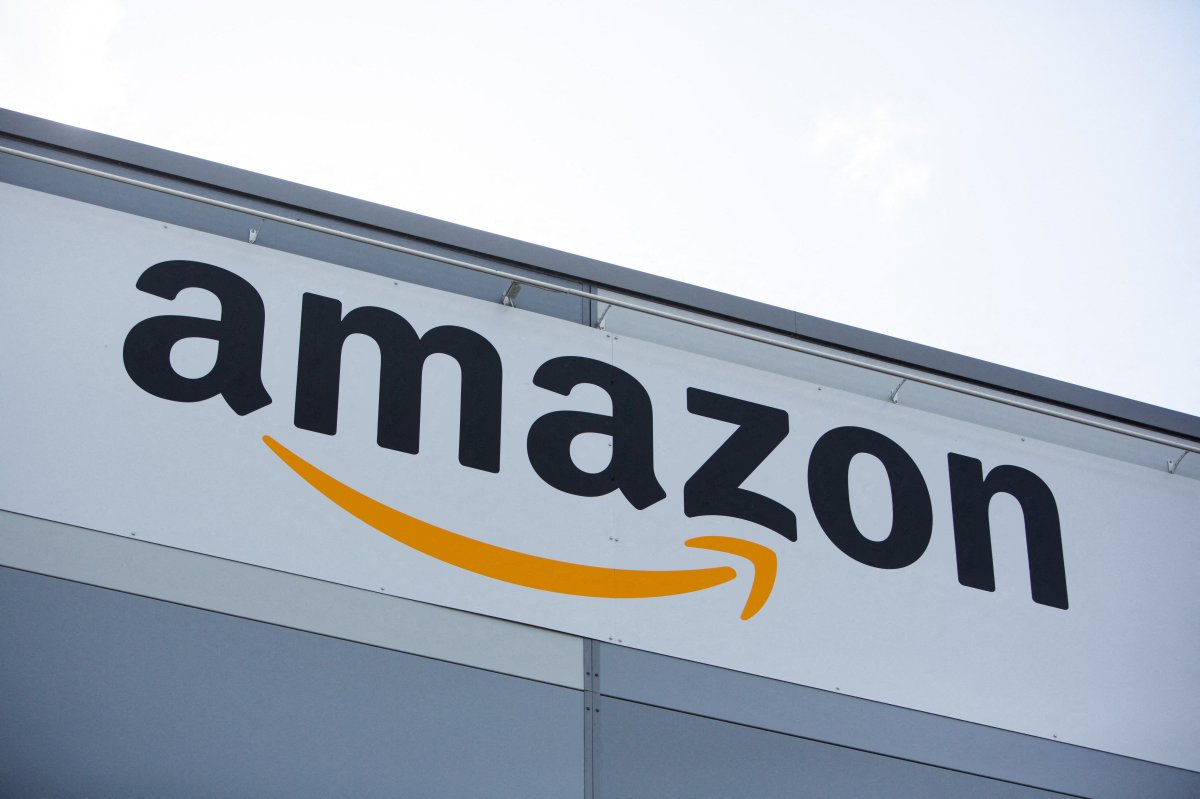 File photo - Logo of Amazon on the logistic warehouse of Amazon in Velizy-Villacoublay onSeptember 23 2019.