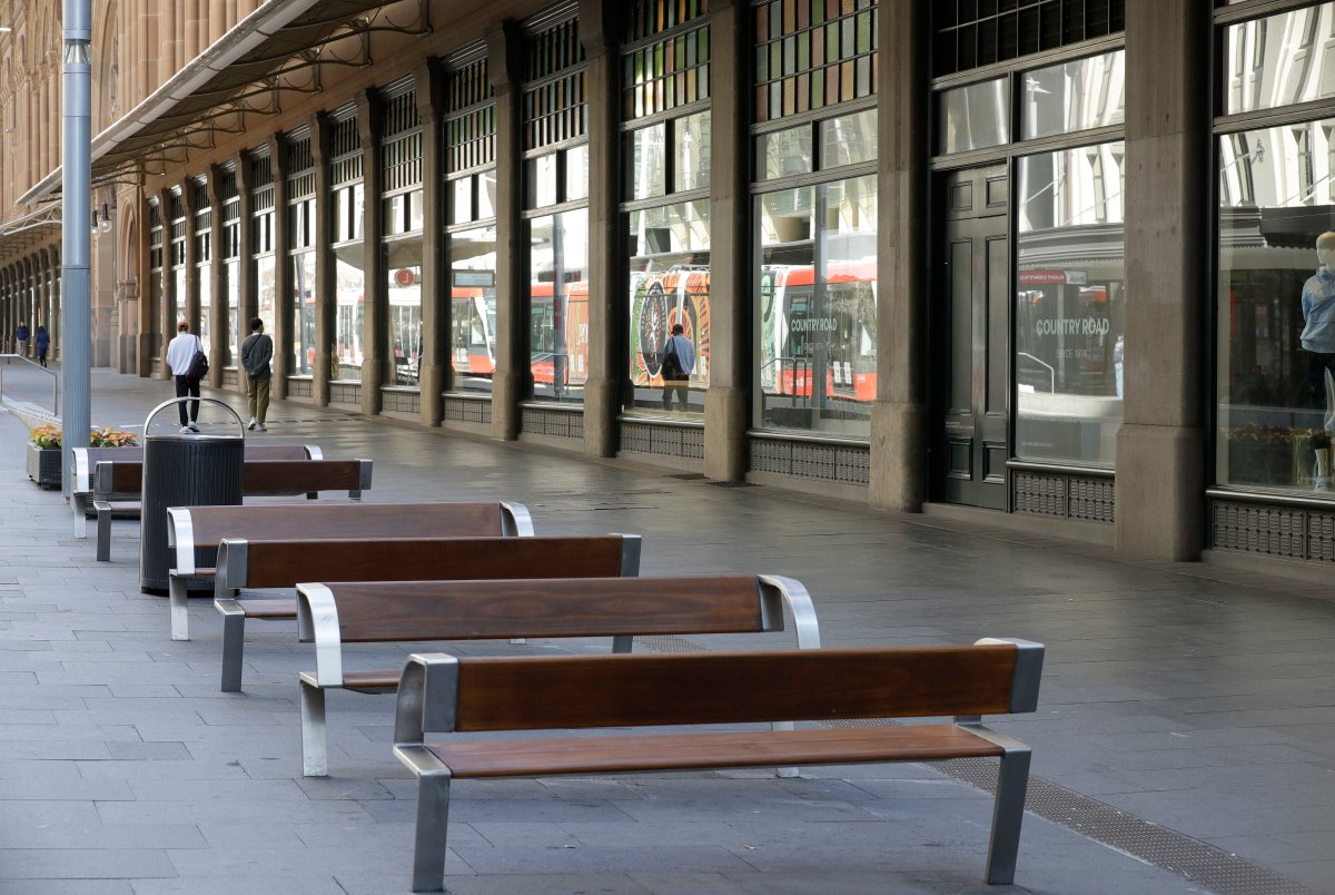 A normally busy shopping area in Sydney is nearly empty of people, Wednesday, July 7, 2021.