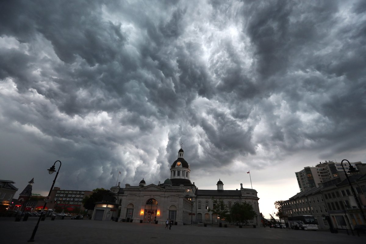 Much of eastern Ontario, including Kingston, could see dangerous thunderstorms Tuesday afternoon, Environment Canada says.