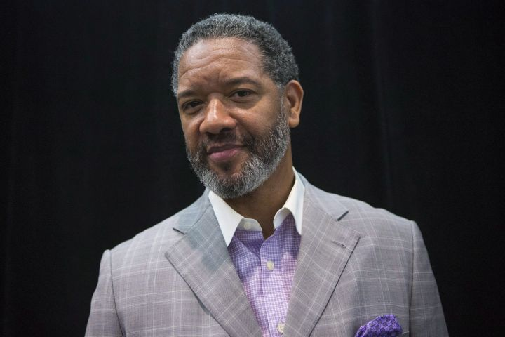 Damon Allen, four time Grey Cup champion is pictured being inducted into Canada's Sports Hall of Fame's 'Class of 2018' during a news conference in Toronto, on Thursday April 26, 2018.