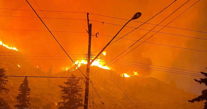 Kamloops, B.C., residents briefly evacuated from homes due to close wildfire