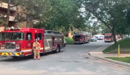 London fire crews responded to three major incidents within a couple of hours Wednesday afternoon, including a 'possible explosion' on Kipps Lane.