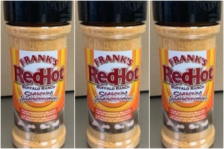 A voluntary recall has been issued for Frank's RedHot Buffalo Ranch Seasoning over a possible Salmonella contamination.