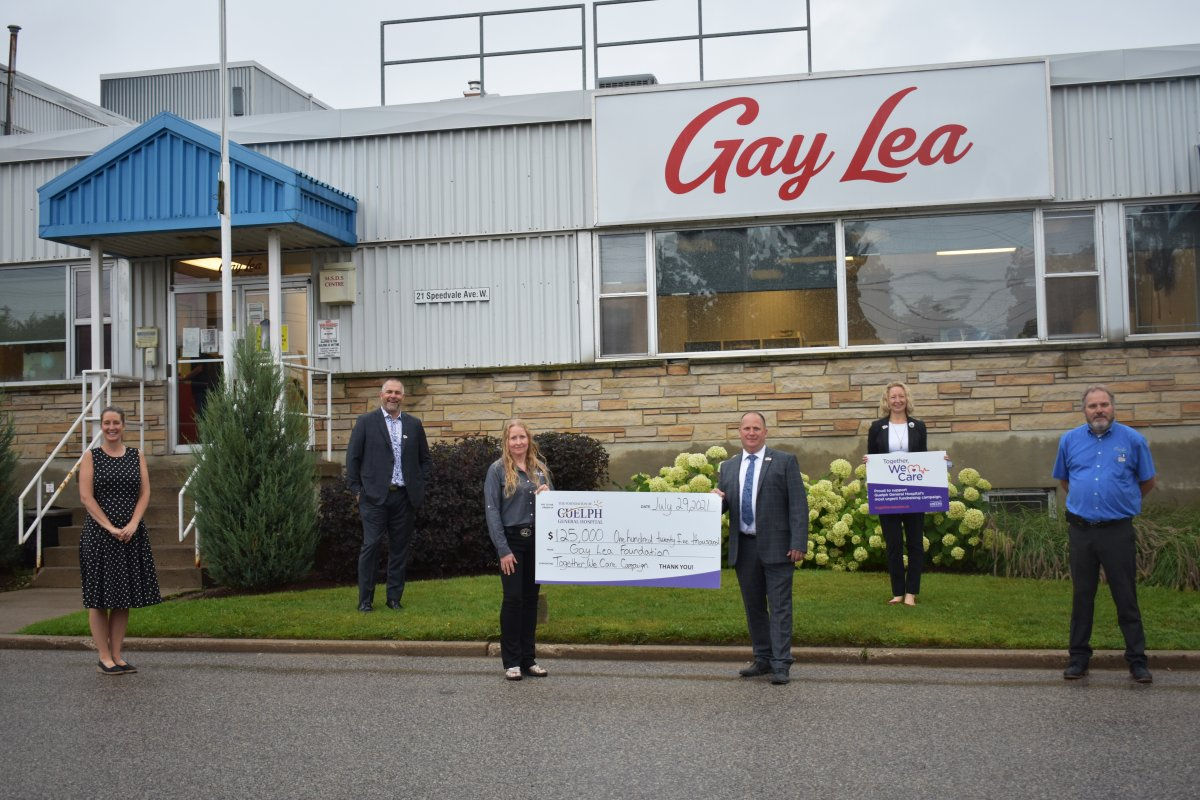 Gay Lea Foods has donated $125,000 to Guelph General Hospital.