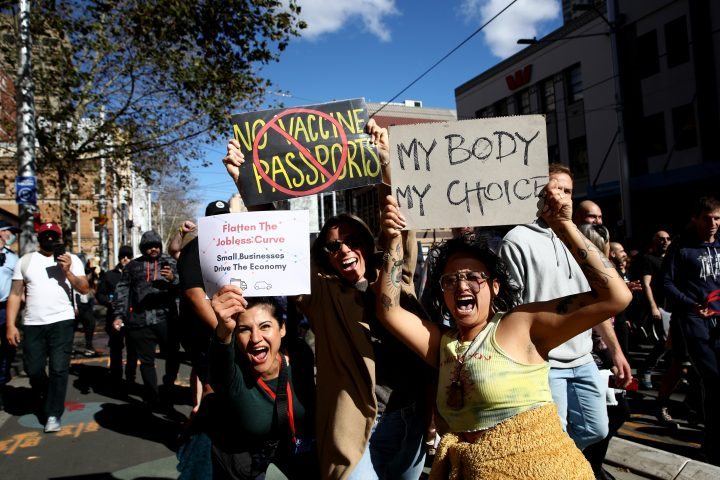 Freedom Thousands Protest In Australia Against Covid 19 Lockdown Vaccines National Globalnews Ca