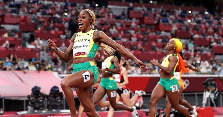 Thompson-Herah defends Olympic gold as Jamaican women sweep 100m podium – National | Globalnews.ca