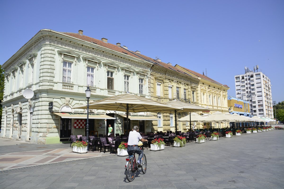 Daily life in the city  on Aug. 10, 2017, Slavonski Brod,Croatia.