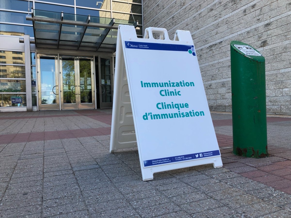 The COVID-19 vaccine clinic at Ottawa City Hall is one of five remaining sites in the city.