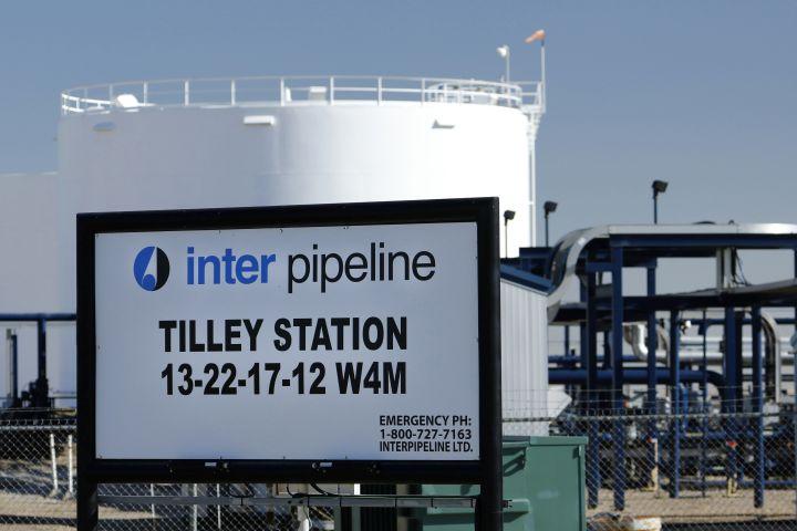 Inter Pipeline petroleum pipeline station near Tilley, Alberta on Sept. 11, 2020.