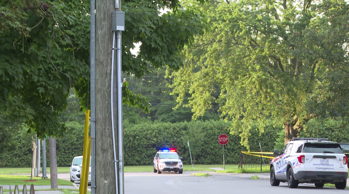 Kingston police arrested a man they say was barricaded inside a home with a firearm on Johnson Street Tuesday evening for several hours.